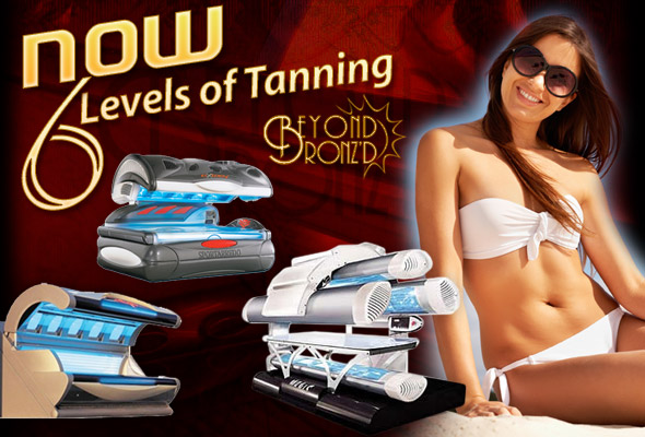 Beyond Bronzed has six levels of tanning equipment.